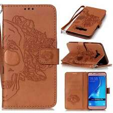 Skull Luxury Ultra PU Leather Stand Wallet Case Cover Strap For Phones