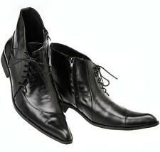 Mens Leather Lace Up dress Formal zip up Ankle Boots pointy toe stylish Shoes