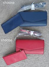 SOCIETY NEW YORK red or navy blue chain shoulder strap Wallet with coin purse