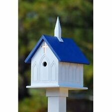 FANCY HOME PRODUCTS CHURCH BIRD HOUSES AVAILABLE IN GREEN BLACK AND BLUE