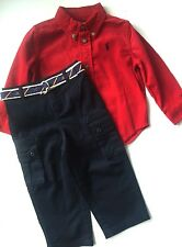 NWT Boys Ralph Lauren Trousers and Shirt outfit set age 18 months or 24 months