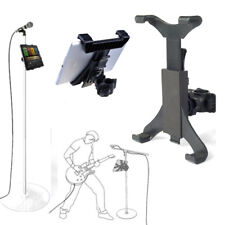 """Universal Microphone Music Mic Stand Clamp Mount Holder Cradle for 7""""-10"""" Tablet"""