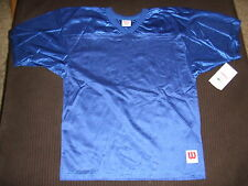 NEW YOUTH Wilson Porthole Mesh Practice Football Jersey ROYAL BLUE F8641