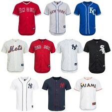 MLB Baseball Jersey Majestic Men's Jersey Marlins Mets Sox Yankees Angels new