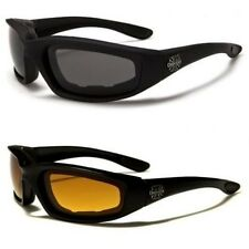 New Mens Womens Motorcycle Bike Goggles Sunglasses Anti Shatter Black UV400 12