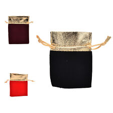 10 PCS New Velvet Jewelry Drawstring Gift Bags Pouch Wedding Party Favors EF