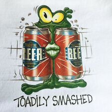 NEW FUNNY DRINKING TSHIRT - Toadily Smashed!