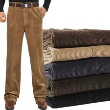 Autumn Men's Trousers loose Comfy Cotton Warm dress Corduroy Casual Pants New @@