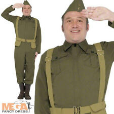 WW2 Home Guard Private Costume Mens 1940s Dads Army Military 1940s Fancy Dress
