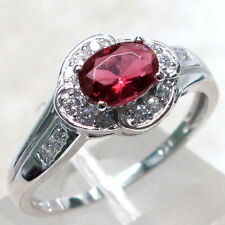 DAZZLING 1 CT RUBY 925 STERLING SILVER MICRO PAVE RING SIZE 5-10