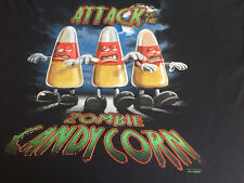 NEW FUNNY ZOMBIE TSHIRT - Attack of the Zombie Candy Corn