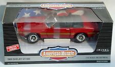 ERTL 1/18 1969 Mustang Shelby GT500 Apple RED 7350 American Muscle RC 69 carroll