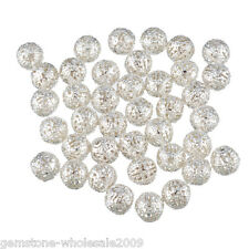 Wholesale Lots Silver Plated Filigree Ball Spacer Beads 10mm