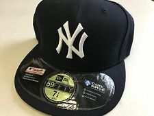 NWT NEW YORK YANKEES RETRO ONFIELD NEW ERA 5950 FLAT BRIM FITTED HAT