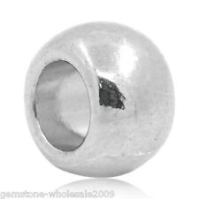 "Wholesale Lots Silver Tone Round Spacer Beads 6x5mm(2/8""x2/8"")"