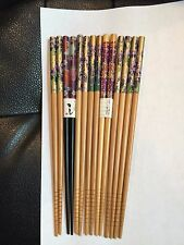 PURPLE, PURPLE, PURPLE JAPANESE CHOPSTICKS W/ FREE SILK HOLDER