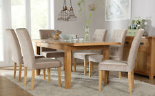 Rustic Oak & Regent Extending Dining Room Table & 4 6 Chairs Set (Mink)