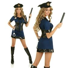 Womens Police Officer Cop Uniform Role Play Fancy Dress Up Party Outfit Costume
