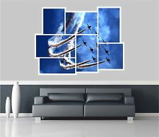 Huge Collage View Jet Fighter Planes Wall Stickers Mural Art Decal 1125