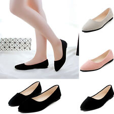 Women's Ballet Flats Ballerina Slippers Casual Slip On Shoes Ladies Faux Leather
