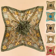 35'' x35'' Scarf Women Satin Luxury Wrap Bandana Square Large Headband Kerchief
