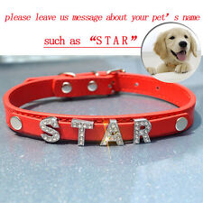 Personalized Dog Collar Free 6pcs Slider Letters For Name Customized PetNecklace