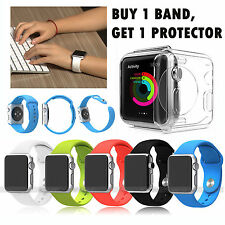 Soft Watch Band Silicone Strap Wrist Strap F. Apple iWatch 38/42mm US