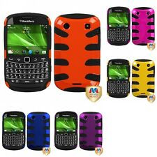 For BlackBerry Bold Touch 9900 9330 Hybrid IMPACT Hard Soft Rugged Armor Case
