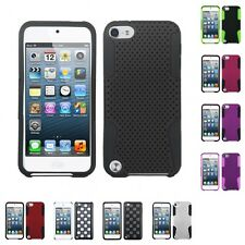 For Apple iPod Touch 5th 6th Gen Hybrid Rugged Impact Hard Soft Case Phone Cover