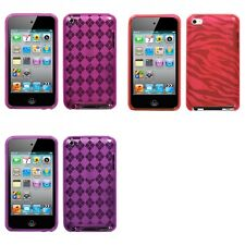 For Apple iPod Touch 4th Gen TPU Rubber Skin Flexible Case Phone Cover