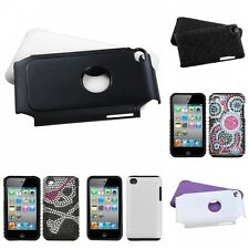 For Apple iPod Touch 4th Gen Hybrid 2-Piece Hard Soft Case Phone Cover Skin