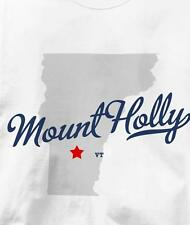 Mount Holly, Vermont VT MAP Souvenir T Shirt All Sizes & Colors