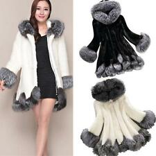 Hot Women Hooded Winter Warm Coat Faux Fur Parka Jacket Outwear Overcoat New YT