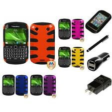 For BlackBerry Bold Touch 9900 9330 Hybrid Hard Soft Armor Case Charger Stylus