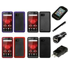 For Motorola Droid Bionic XT875 TPU Hard Case Skin Phone Cover Charger Stylus