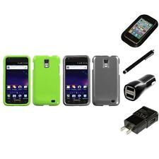 For Samsung Skyrocket i727 Rigid Plastic Hard Snap-On Case Cover Charger Stylus