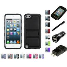 For Apple iPod Touch 5th 6th Gen TPU Hard Case Skin Phone Cover Charger Stylus