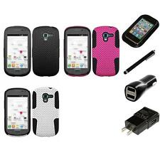 For Samsung Galaxy Exhibit T599 Hybrid Rugged Impact Hard Soft Case Charger