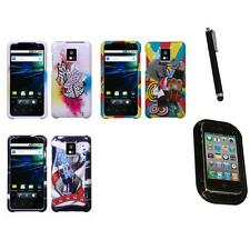 For LG Optimus G2X P990 Design Snap-On Hard Case Phone Cover Mount+Pen