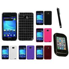 For Samsung Galaxy S2 i9100 TPU Rubber Skin Flexible Case Phone Cover Mount+Pen