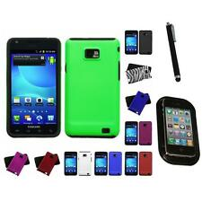 For Samsung Galaxy S2 i9100 Hybrid 2-Piece Hard Soft Case Cover Skin Mount+Pen
