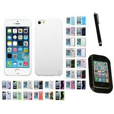 For Apple iPhone 5/5S/SE TPU Hard Case Skin Phone Cover Mount+Pen
