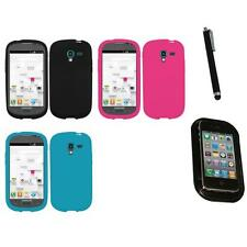 For Samsung Galaxy Exhibit T599 Silicone Skin Rubber Soft Case Cover Mount+Pen