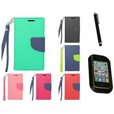 For Samsung Galaxy Exhibit T599 Wallet Case With ID Card Pocket Slot Mount+Pen