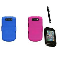 For BlackBerry Torch 9800 Hard Matte Holster Belt Clip 2-Piece Case Mount+Pen