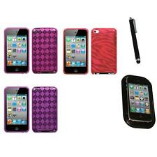 For Apple iPod Touch 4th Gen TPU Rubber Skin Flexible Case Cover Mount+Pen