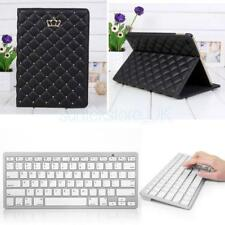 Sleep Wake Stand Holder Case with Wireless Bluetooth Keyboard for iPad Air 2