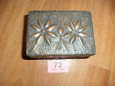 Arts and crafts vintage wooden box copper clad flower box