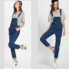 Celeb Girls Baggy Denim Jeans Full Length Pinafore Dungaree Overall Jumpsuit UK