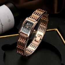 Lvpai Women Watches Diamond Quartz Rose Gold Bracelet Analog Wrist Watch U5S5